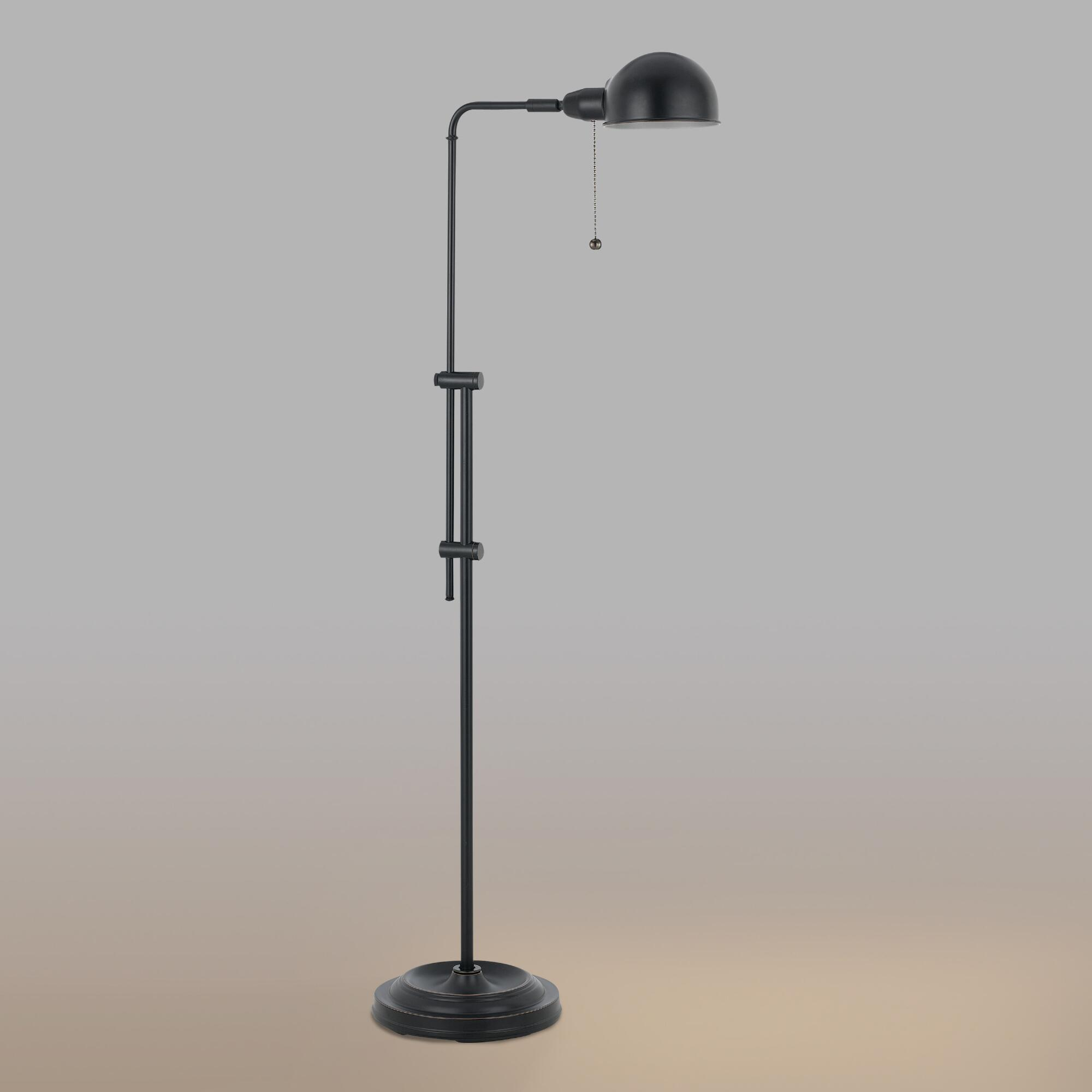 Black Crosby Pharmacy Floor Lamp World Market