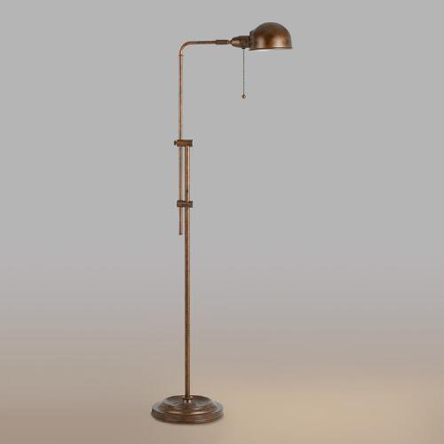 Rust Crosby Pharmacy Floor Lamp