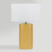 Yellow Ceramic Table Lamps, Set of 2
