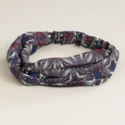 Blue and Red Mosaic Elastic Turban