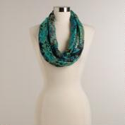 Turquoise and Green Tonal Mosaic Infinity Scarf