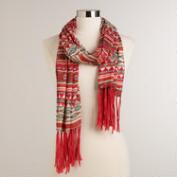 Southwest Print Scarf with Fringe