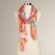 Large Floral Pink and Peach Scarf