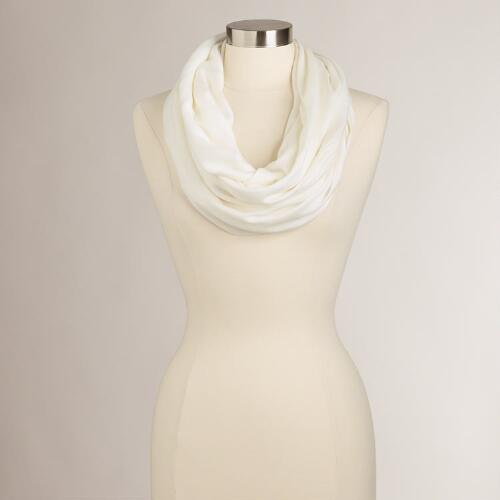 White Summer Infinity  Scarf
