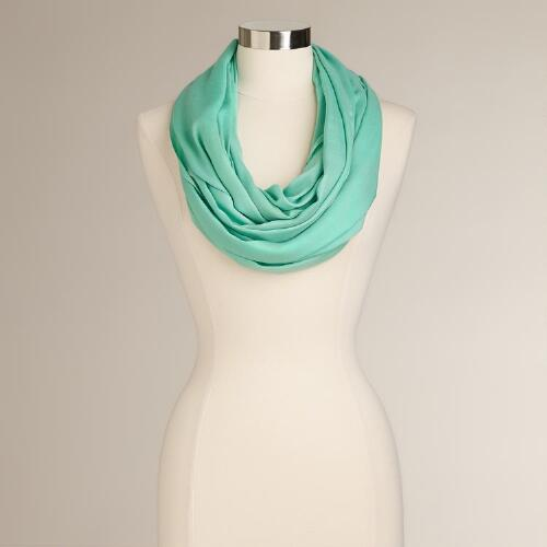 Mint Summer Infinity Scarf