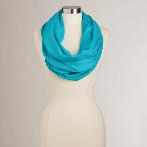 Turquoise Summer Infinity  Scarf