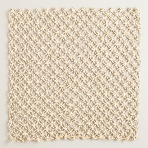 Macrame Placemats,  Set of 4