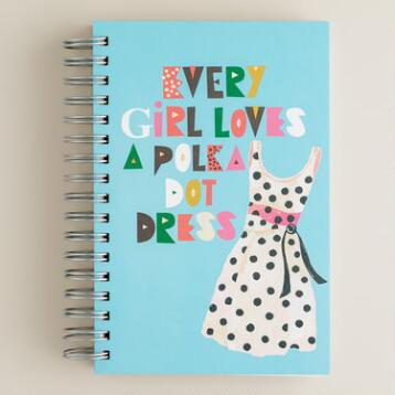 Ecojot Polka Dot Dress Journal