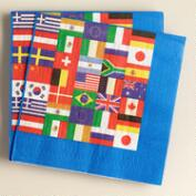 International Flag Lunch Napkins, 16-Count