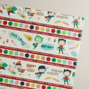 Dots Birthday Heroes Wrapping Paper Roll