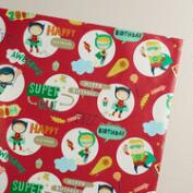 Red Birthday Heroes Gift Wrap