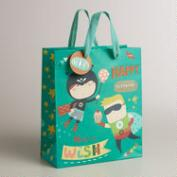 Medium Blue Birthday Heroes Gift Bag