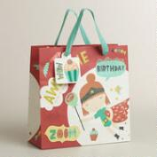 Medium Red Birthday Heroes Gift Bag