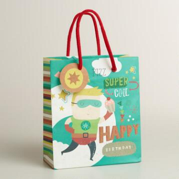 Small Blue Birthday Heroes Gift Bag
