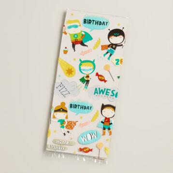 Birthday Heroes Cello Goodie Bags, 8-Pack