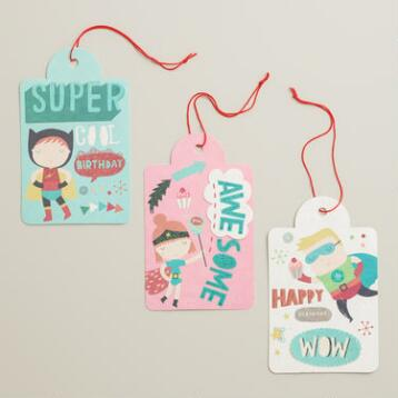 Birthday Heroes Gift Tags, 6-Pack