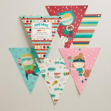 Birthday Heroes Flags, 36-Pack