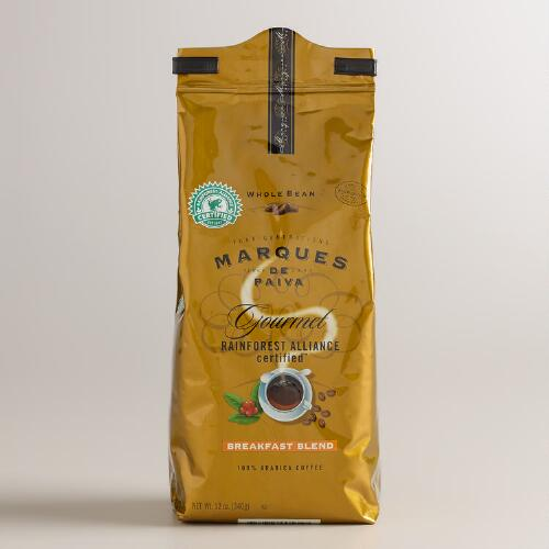 Marques de Paiva Breakfast Blend Whole Bean Coffee