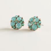 Pacific Opal Cluster Stud Earrings