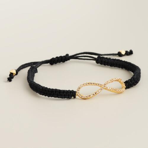 Gold Pave Infinity Friendship Bracelet