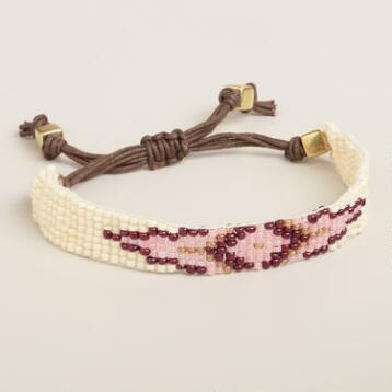 Purple Diamond Beaded Friendship Bracelet