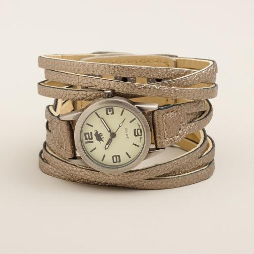 Silver Multi-Strand Wrap Watch