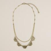 Gold Geo 5-Point Necklace