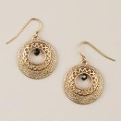 Round Gold Drop Earrings