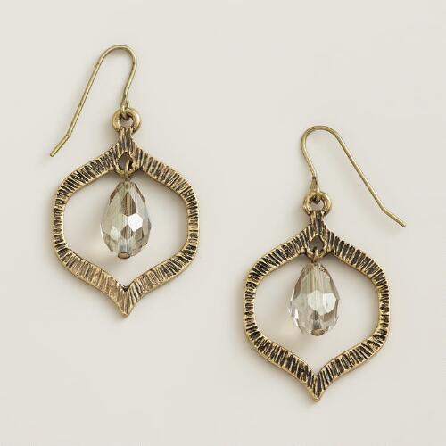 Gold Lantern Drop Earrings