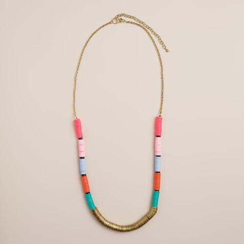 Color Block Sequin Necklace