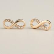 Gold Infinity Stud Earrings