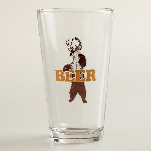 Bear Deer Pint Glass