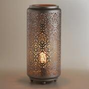 Punched Metal Baroque Cylinder Lamp
