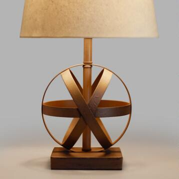 Metal Orb Accent Lamp Base