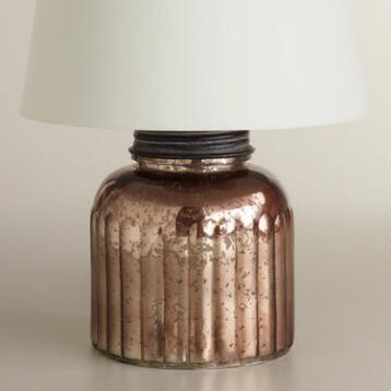 Mercury Glass Canister Accent Lamp Base
