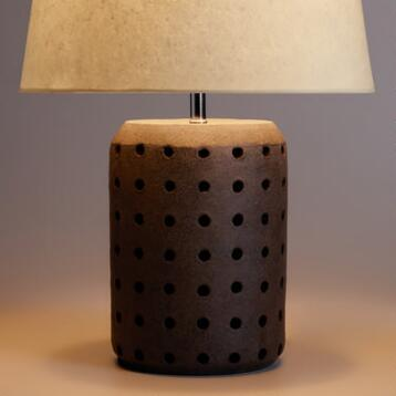Charcoal Terracotta Table Lamp Base