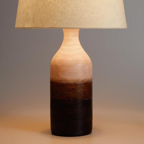 Ombre Wood Table Lamp Base