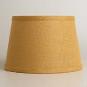 Harvest Gold Burlap Accent Lamp Shade