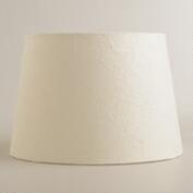 White Crinkled Paper Accent Lamp Shade