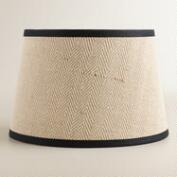 Cream Herringbone Accent Lamp Shade
