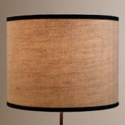 Cream Herringbone Drum Table Lamp Shade