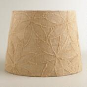 Petal Applique Burlap Table Lamp Shade