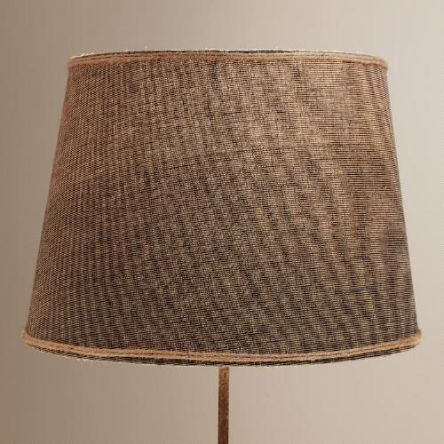 Navy with Jute Trim Table Lamp Shade