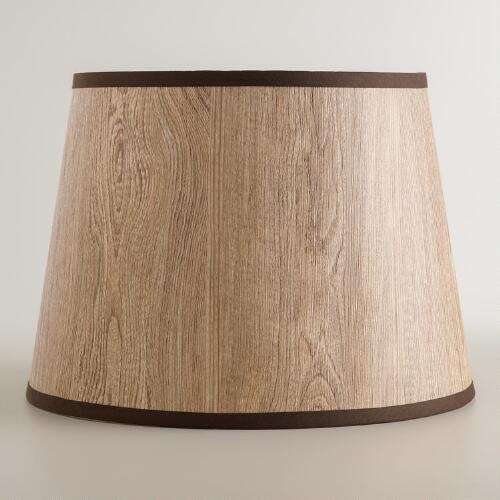 Wood Grain Table Lamp Shade