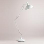 White Task Floor Lamp
