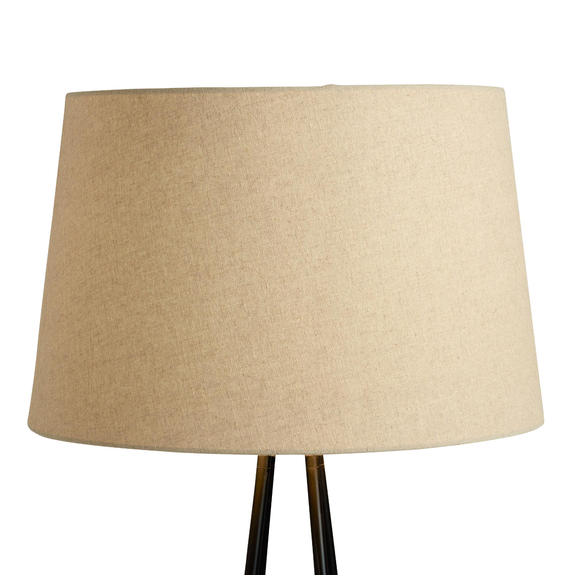 Linen floor lamp shade world market for Floor lamp with different color shades