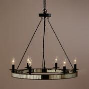 Round Mercury Glass Chandelier