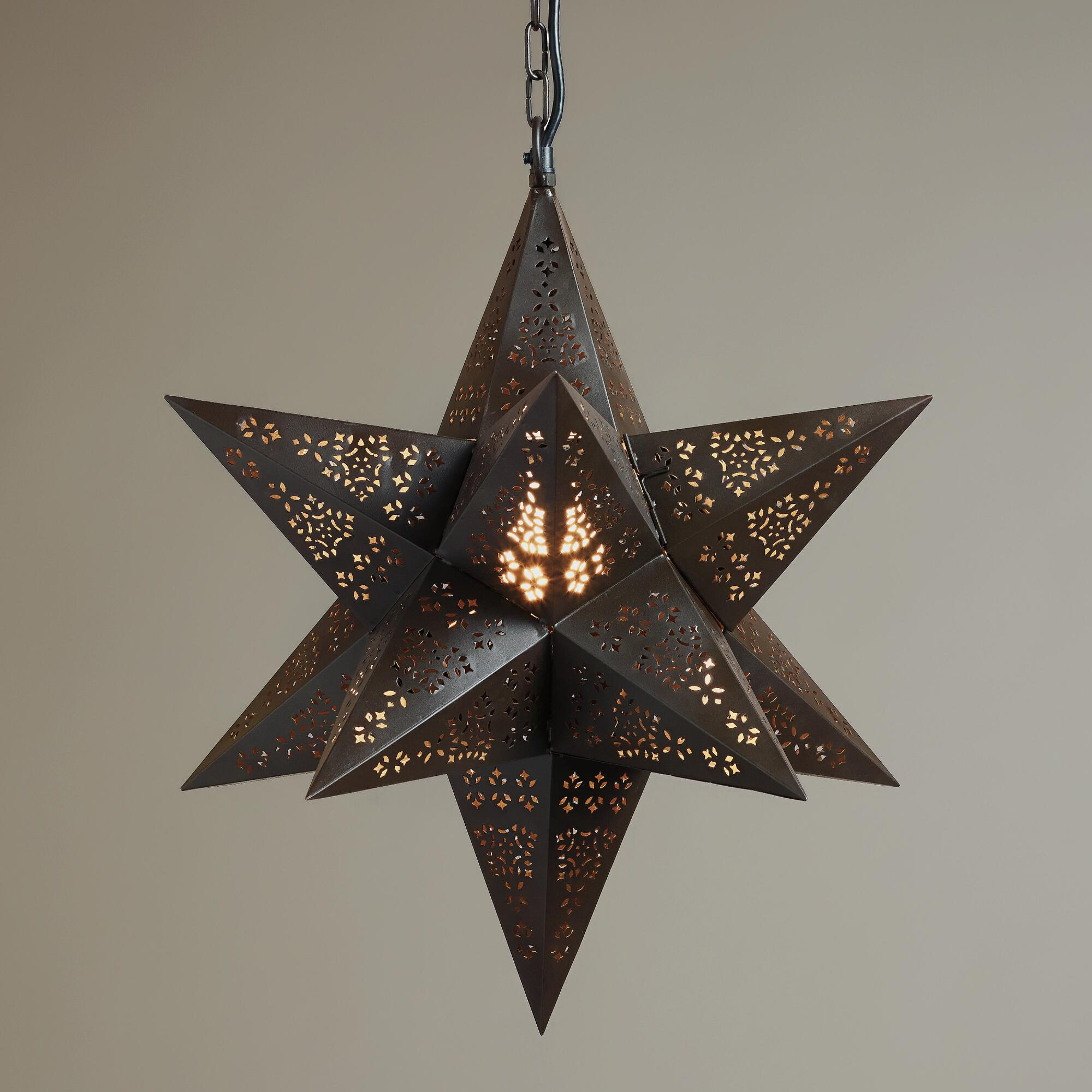 moravian star hanging pendant lamp world market. Black Bedroom Furniture Sets. Home Design Ideas