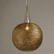 Brass Disc Hanging Pendant Lamp