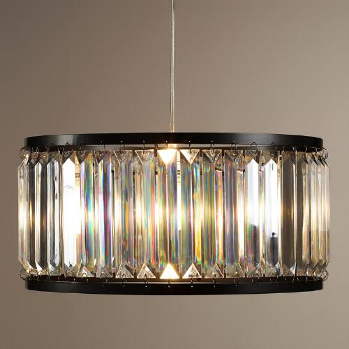 Acrylic Drum Pendant Lamp